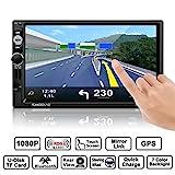 Autoradio, CATUO 7 Zoll GPS MP5 Spieler HD 1080P...
