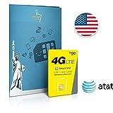 Prepaid Sim-Karte USA AT&T Netz - 4GB 4G LTE -...