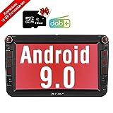PUMPKIN Android 9.0 Autoradio Radio für VW mit...
