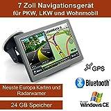 Elebest 17,8cm 7 Zoll Navigationsgerät, mit 24 GB...
