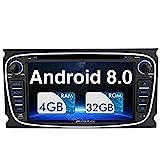 Pumpkin Android 8.0 Autoradio Radio für Ford...