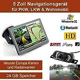 Elebest 12,7cm 5 Zoll Navigationsgerät, mit 24 GB...