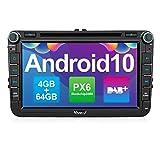Vanku Android 10 Autoradio für VW Radio 64GB+4GB...