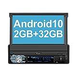 Vanku Android 10 Autoradio 1 Din Radio mit Navi...