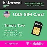 Prepaid Sim-Karte USA - 10GB 4G LTE - Unbegrenzte...