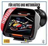 Elebest Rider W4 Navigationsgerät - Motorrad Auto...