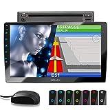 XOMAX XM-2DN1005 Autoradio mit DVD, CD, 10,1 Zoll...