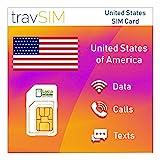 travSIM USA SIM-Karte (Lycamobile SIM Karte) für...