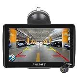 AWESAFE Navigation für Auto 7 Zoll Navi mit...