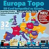 Europa Für Garmin Outdoor Topo Karte kompatibel...