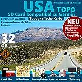 USA Karte Outdoor Topo auf 32 GB microSD....